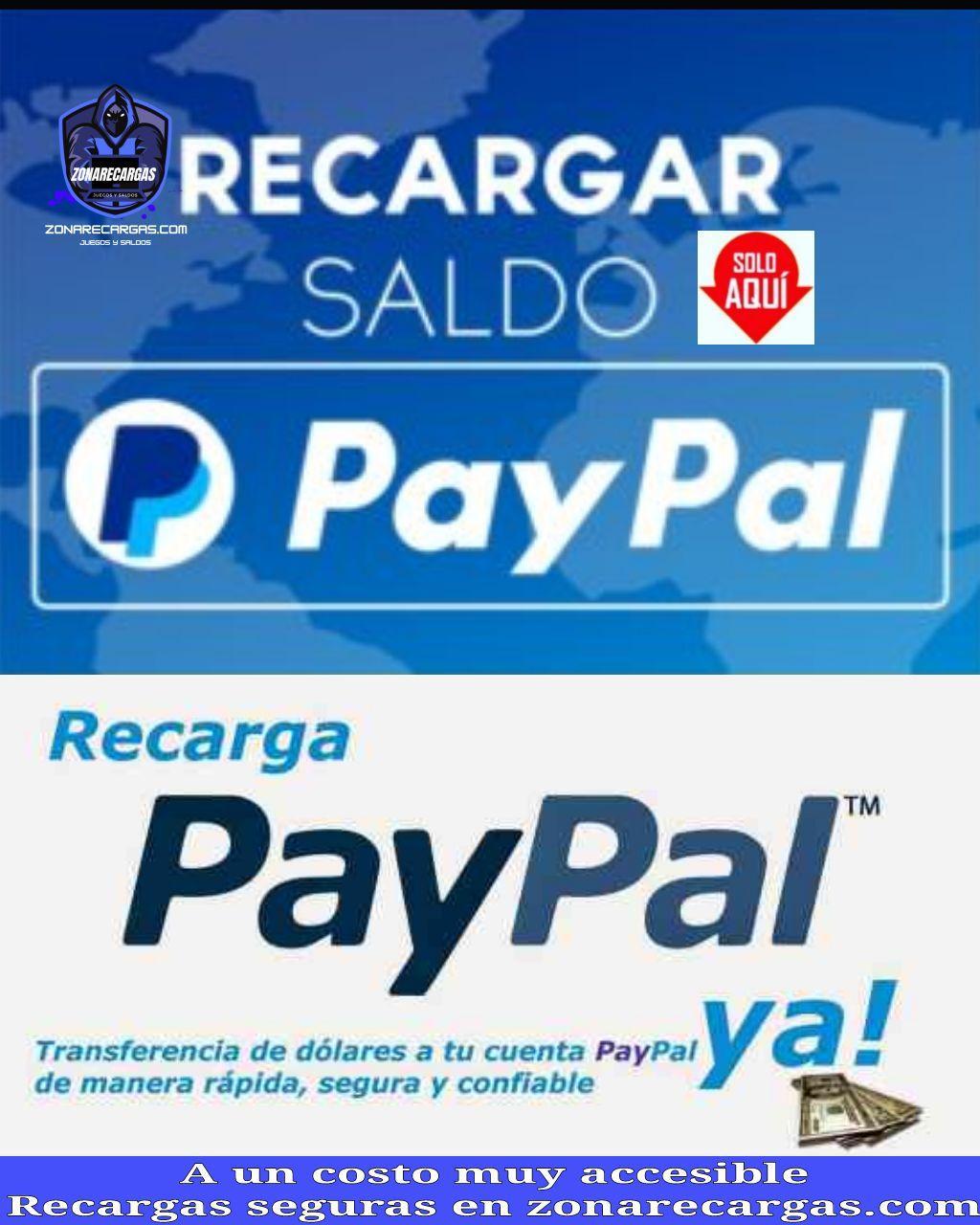 recargas paypal
