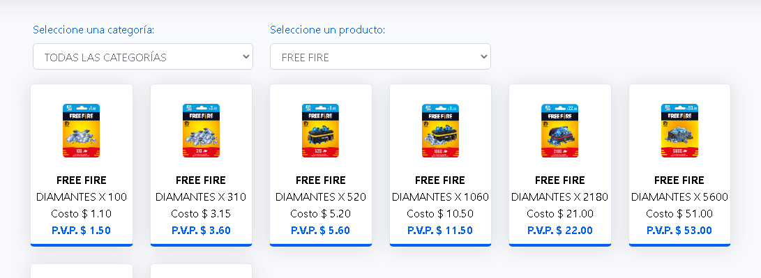 COMISIONES FREE FIRE