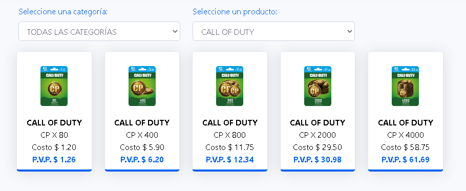 COMISIONES CALL OF DUTTY