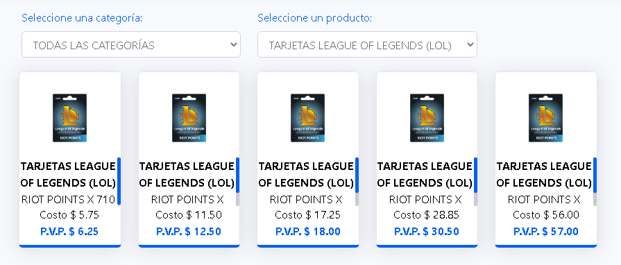 COMISIONES LEAGUE OF LEYENDS