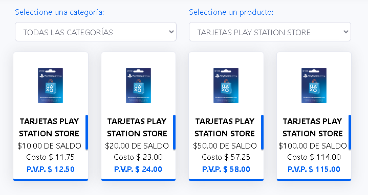 COMISIONES PLAYSTATION STORE