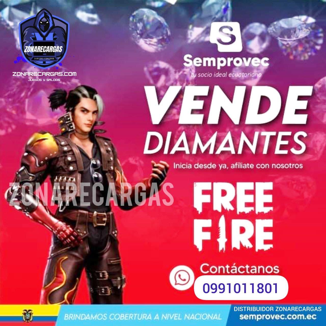 vende recargas free fire